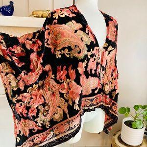 Velvet Burnout Joseph Ribkoff Kimono Shawl Top